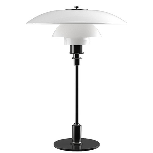 Louis Poulsen PH 3/2 table lamp, metallised black, opal glass