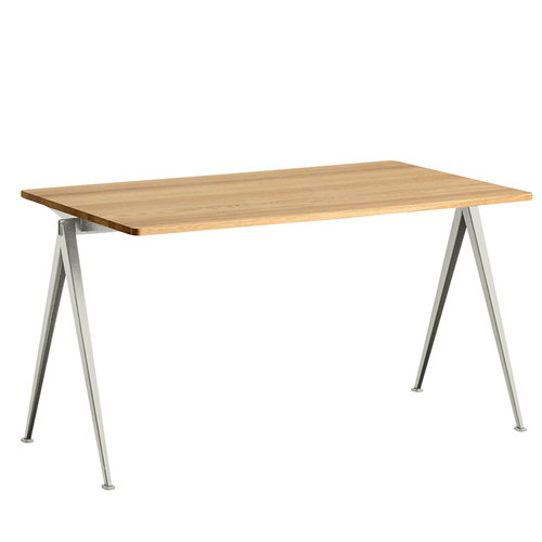 Hay Pyramid table 01, beige - lacquered oak