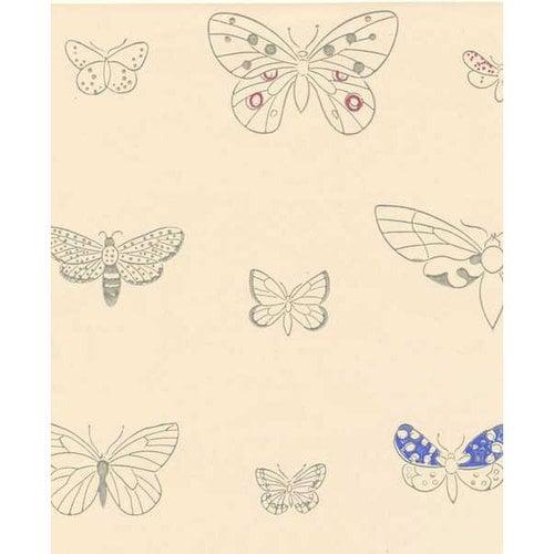 Pihlgren ja Ritola Apollo wallpaper, creamy white- blue
