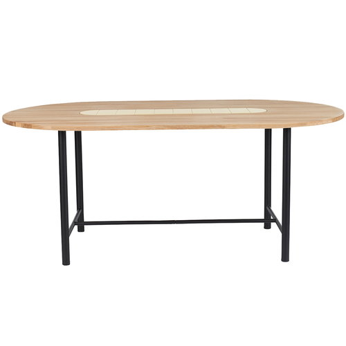 Warm Nordic Be My Guest dining table, white oiled oak - yellow