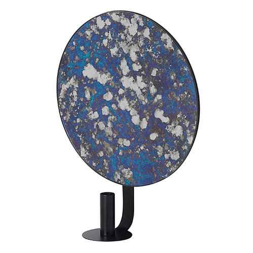Ferm Living Coupled candle holder, round, blue
