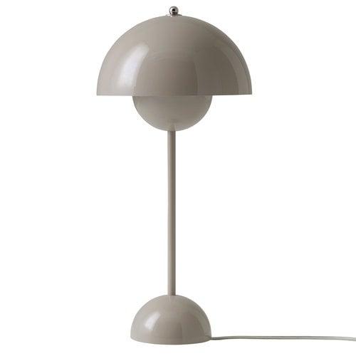 &Tradition FlowerPot VP3 table lamp, grey beige