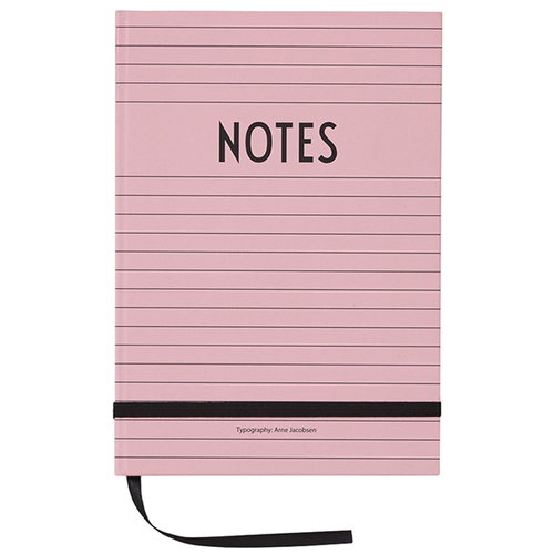 Design Letters Muistikirja, pinkki