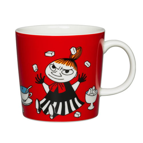 Arabia Moomin mug, Little My, red
