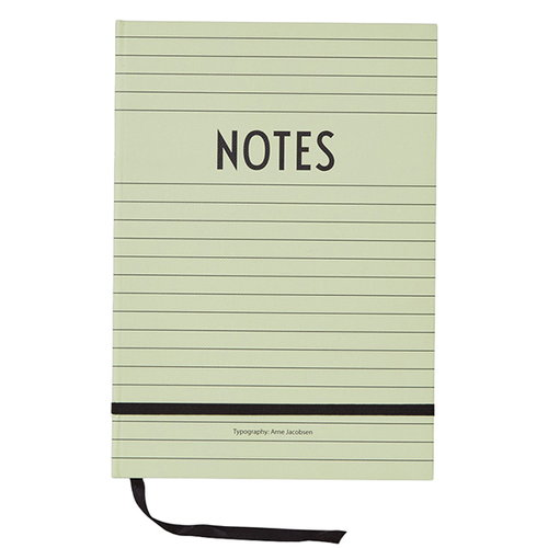 Design Letters Notebook, green