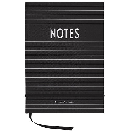 Design Letters Notebook, black