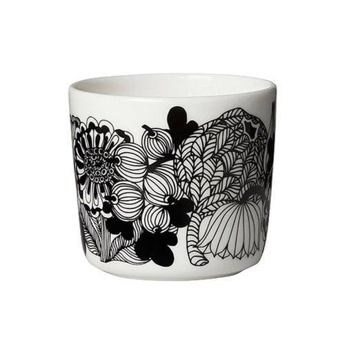 Marimekko Oiva - Siirtolapuutarha coffee cup 2 dl, black-white