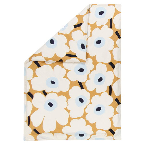 Marimekko Unikko double duvet cover, beige-off-white-blue