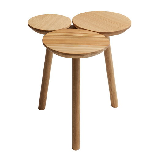 Nikari July stool, oak and elm