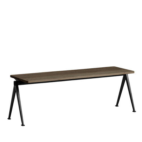 Hay Pyramid bench 11, black - smoked oak