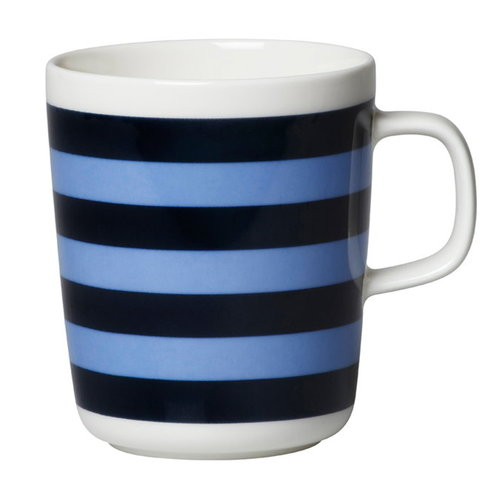 Marimekko Oiva - Tasaraita mug 2,5 dl, dark blue - light blue
