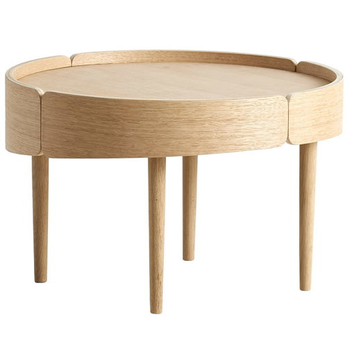 Woud Skirt coffee table, medium, oak