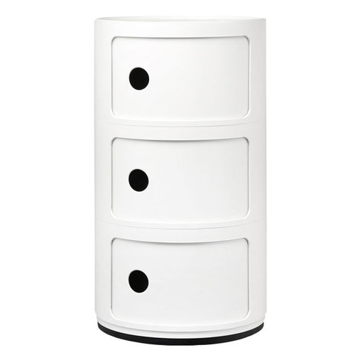 Kartell Componibili storage unit, 3 modules, white