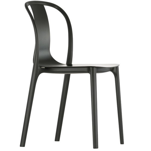 Vitra Belleville chair, black stained ash - black