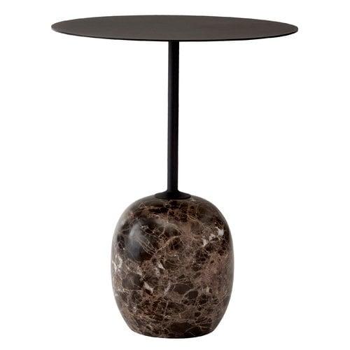 &Tradition Lato LN8 coffee table, black - Emperador marble