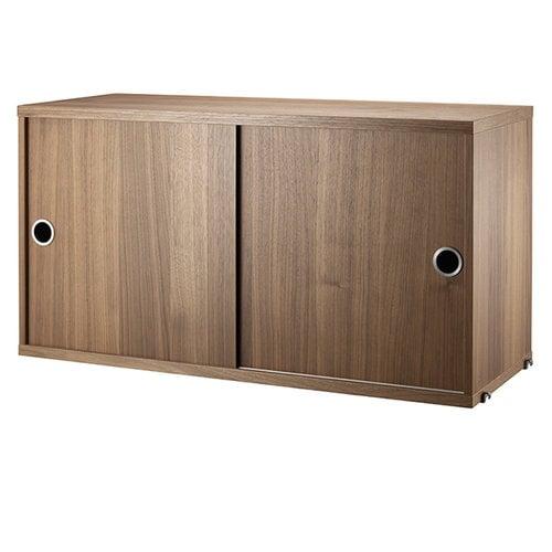 String String cabinet, walnut