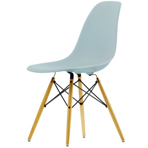 Vitra Eames DSW chair, ice grey - maple