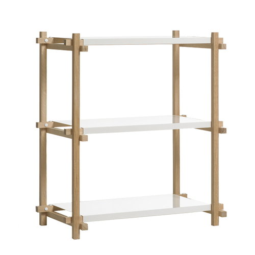 Hay Woody column shelf low, white