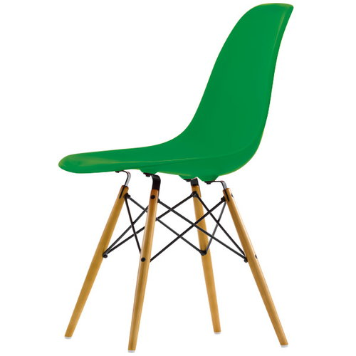 Vitra Eames DSW chair, classic green - maple