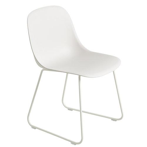 Muuto Fiber side chair, sled base, white