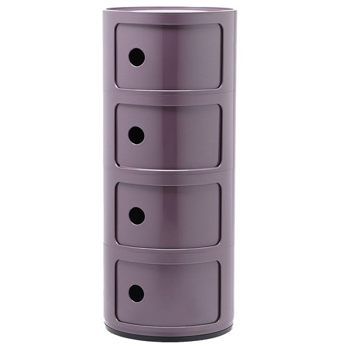 Kartell Componibili storage unit, 4 modules, purple