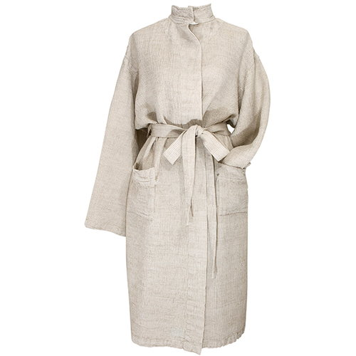 Lapuan Kankurit Terva bathrobe, white-linen