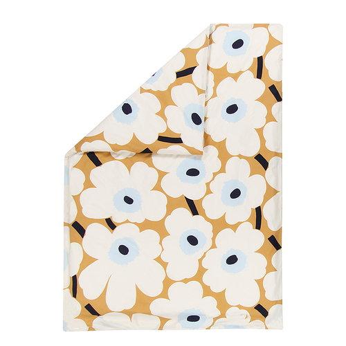 Marimekko Unikko duvet cover, beige-off-white-blue