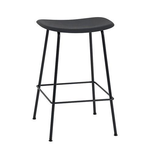Muuto Fiber bar stool, tube base, black
