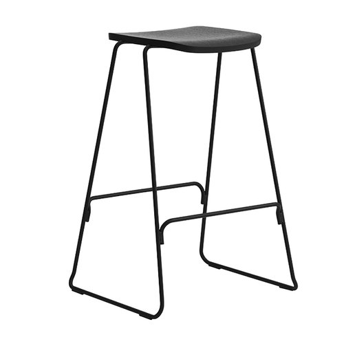 Normann Copenhagen Just Barstool 65 cm, without back rest, black
