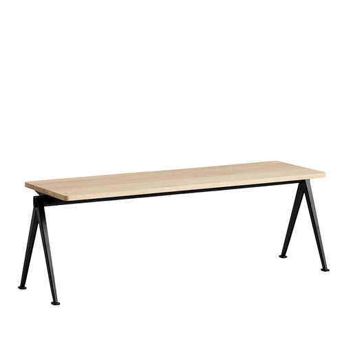 Hay Pyramid bench 11, black - matt lacquered oak