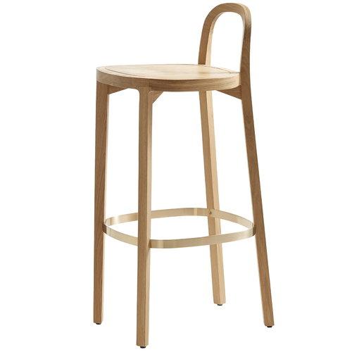 Woodnotes Siro+ bar stool 75 cm, oak