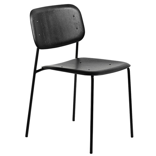 Hay Soft Edge chair, steel base, black