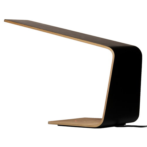 Tunto Led1 table lamp, oak - black