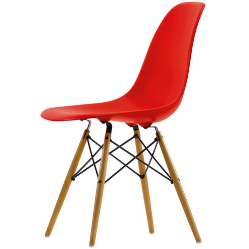 Vitra Eames DSW chair, classic red - maple