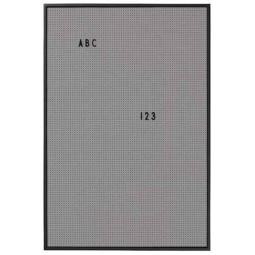 Design Letters Message board A2, dark grey