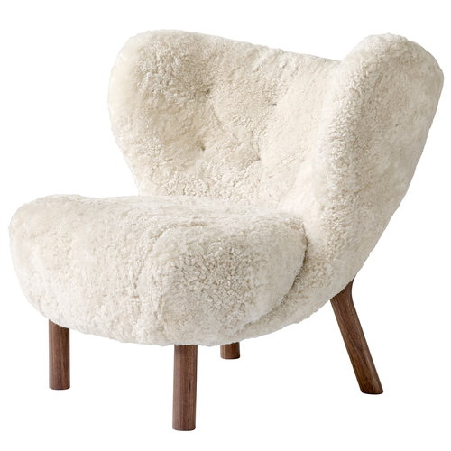 &Tradition Little Petra lounge chair, Skandilock sheepskin - walnut