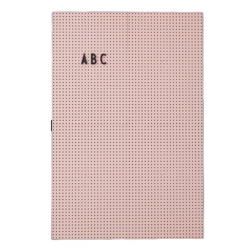 Design Letters Muistitaulu A3, pinkki