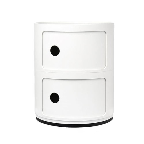 Kartell Componibili storage unit, 2 modules, white