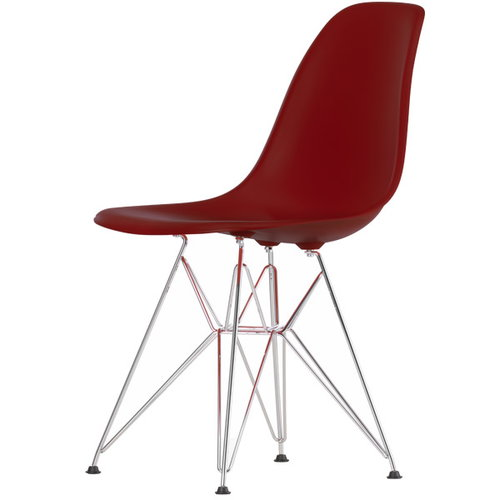 Vitra Eames DSR chair, oxide red - chrome
