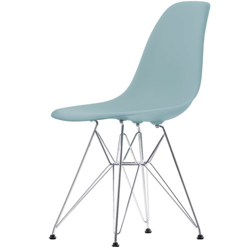 Vitra Eames DSR chair, ice grey - chrome