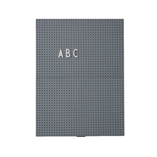 Design Letters Muistitaulu A4, tummanharmaa