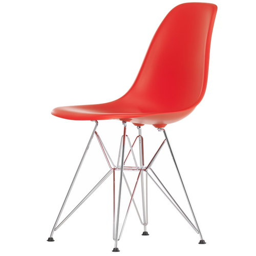 Vitra Eames DSR chair, classic red - chrome