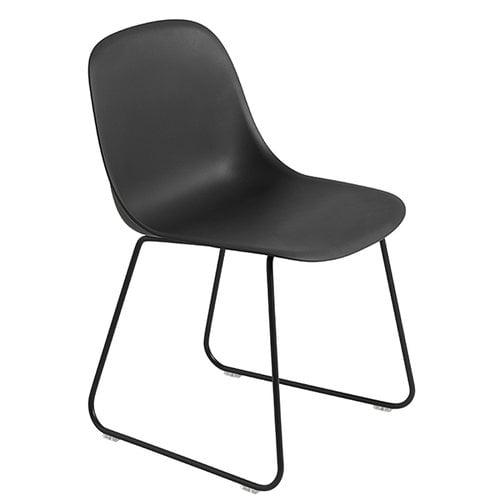 Muuto Fiber side chair, sled base, black