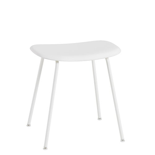 Muuto Fiber stool, metal base, white