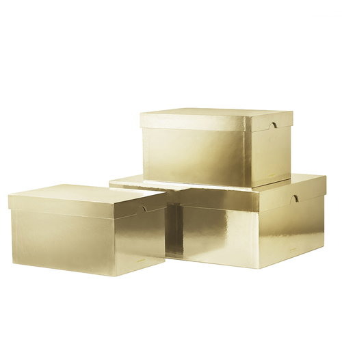 Normann Copenhagen Metallic boxes 3 pcs, gold