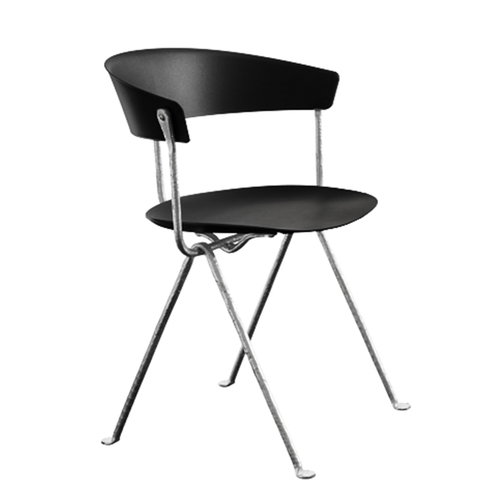 Magis Officina chair, galvanized, black
