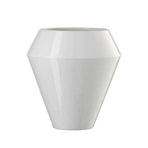 By Lassen Rimm vase, tall, white