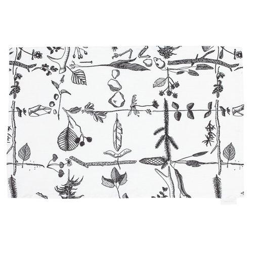 Saana ja Olli Myrskyn j�lkeen tea towel, white