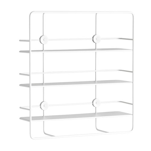 Woud Coupé rectangular shelf, white