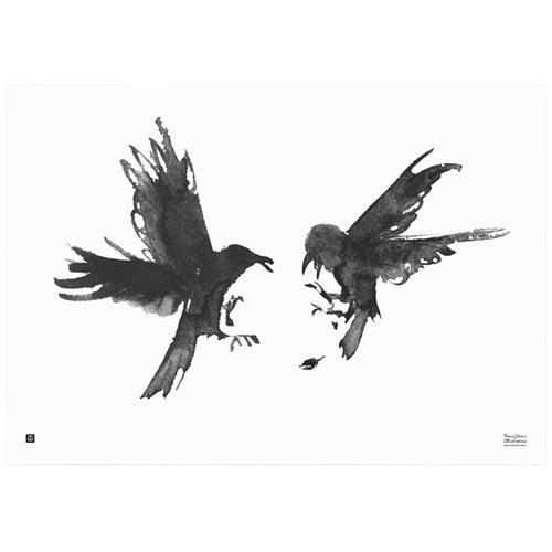 Teemu Järvi Illustrations Kinastelevat korpit juliste, 100 x 70 cm